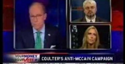 Jerry Bowyer debating Ann Coulter on Kudlow & Company, March 6th, 2008