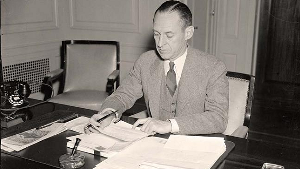 Marriner Eccles, former Chairman of the U.S. Federal Reserve.