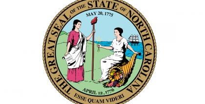 State seal of North Carolina.