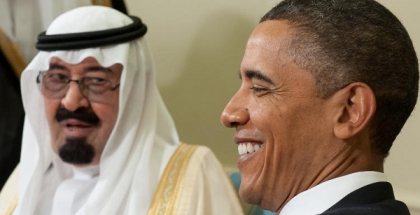 President Barack Obama and King Abdullah of Saudi Arabia at the White House. (Photo by Saul Loeb/AFP)