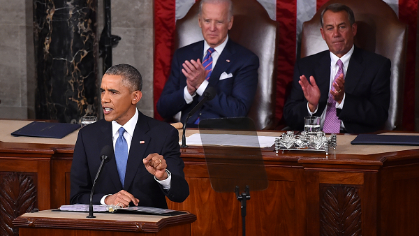 President Barack Obama delivers his State of the Union address before a joint session of Congress on Tuesday, January 20, 2015. (Photo by Ricky Carioti/The Washington Post/Getty Images)