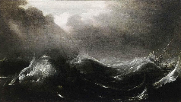 Shipping in Stormy Seas (painted by Jan Porcellis)