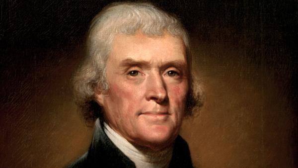 Thomas Jefferson (portrait by Rembrandt Peale)