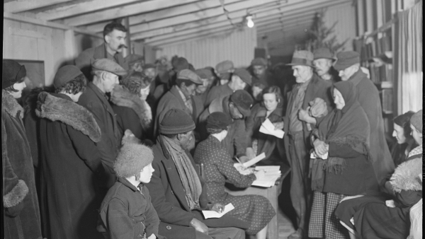 Unemployed Miners at Scott's Run, West Virginia (1938)