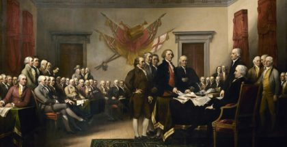 Declaration of Independence (painted by John Trumbull) (1819)