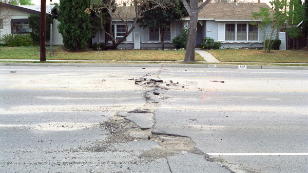 Earthquake Damage to Road