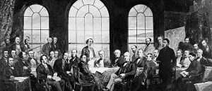 Fathers of Confederation (Photo by James Ashfield) (Painted by Robert Harris)