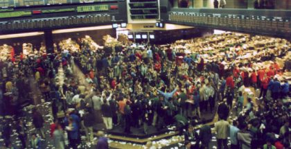 Floor of the Chigaco Trade Board