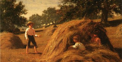 Hiding in the Haycocks (by William Bliss Baker) (1881)