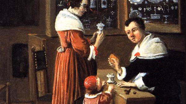 Interior of a Dutch Shop Selling Gold and Silver (circa 1660)