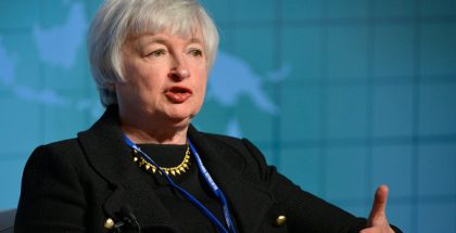 Janet Yellen, Chair of the Federal Reserve (Photo by Day Donaldson) (CC BY) (Resized/Cropped)