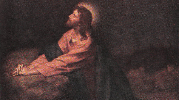 Jesus Praying to God the Father in Gethsemane  (Painted by Heinrich Hofmann) (1890)