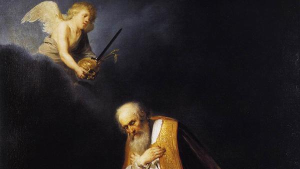 King David in Prayer (Painted by Pieter de Grebber) (1640)