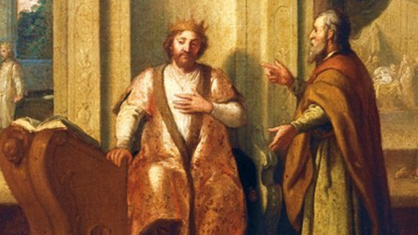 Nathan advising King David (Painted by MAtthias Scheits) (1672)