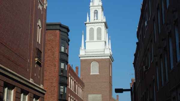 Old North Church in Boston (Photo by Adavyd) (CC3.0) (Resized/Cropped)