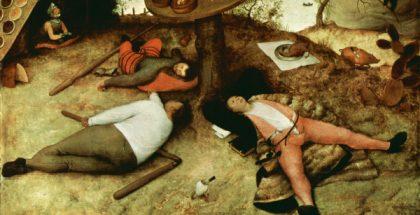 The Land of Cockaigne  (Painted by Pieter Brueghel the Elder) (1567)