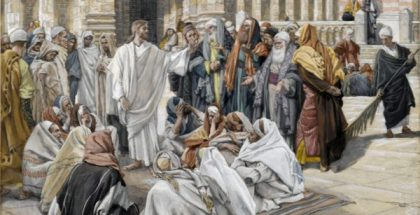 The Pharisees Question Jesus  (painted by James Tissot) (circa 1886-1894)