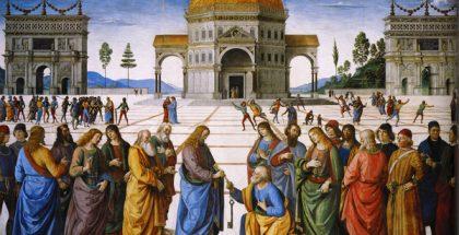 Christ Handing the Keys to St. Peter  (Painted by Pietro Perugino) (1481)