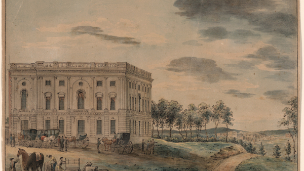 Early Supreme Court in the North Wing of the Washington Capitol (circa 1800)