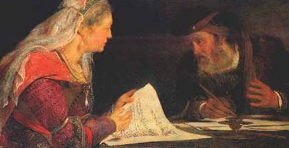 Ether and Mordechai  (Painted by Art de Gelder) (1685)