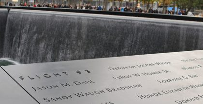 Flight 93 Memorial in Battery Park City, New York, New York  (Photo by SkinnyLawyer) (CC BY) (Resized Cropped)