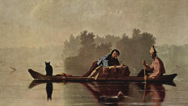 Fur Traders Descending the Missouri  (Painted by George Caleb Bingham) (circa 1845)