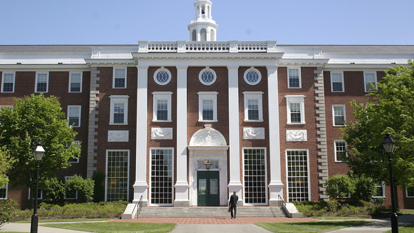 Harvard Business School  (Photo by Florian Pilz) (CC BY) (Resized Cropped)