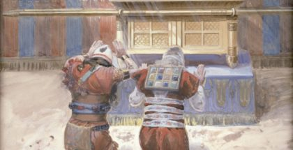 Moses and Joshua in the Tabernacle (c. 1896-1902)  (Painted by James Jacques Joseph Tissot)