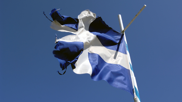 Old Greek Flag  (Photo by Philly boy92) (GFDL) (Resized Cropped)