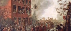 Rioters Burning Dr. Priestley's House at Birmingham, 14 July 1791  (Painted by Johann Eckstein) (1971)