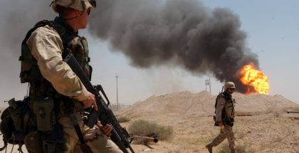 Rumaylah Oil Fields in Southern Iraq (2003)