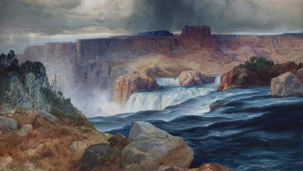 Shoshone Falls, Snake River, Idaho  (Painted by Thomas Moran) (circa 1875)