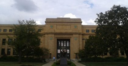 Strong Hall in University of Kansas  (Photo by Arnhem) (CC BY) (Resized Cropped)