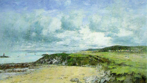 The Coast of Portrieux (Painted by Eugène Boudin) (1874)