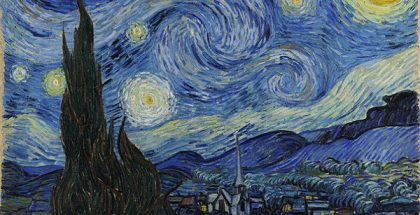 The Starry Night  (Painted by Vincent van Gogh) (1889)