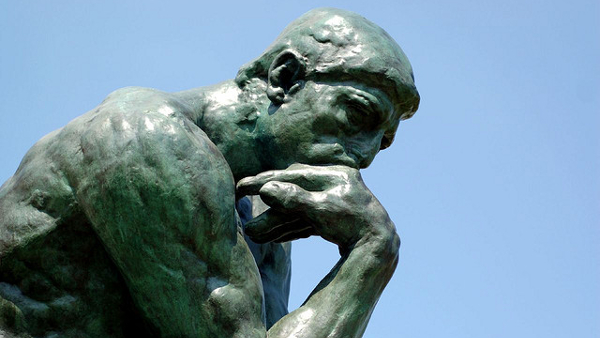 The Thinker (Photo by Brian Hillegas) (CC2.0) (Resized Cropped)