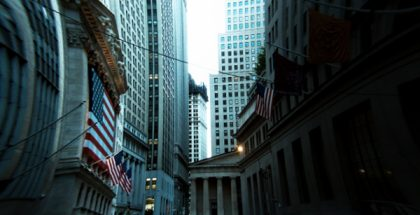 Wallstreet, New York City, New York  (Photo by Henry Han) (CC BY) (Resized/Cropped/Warped)