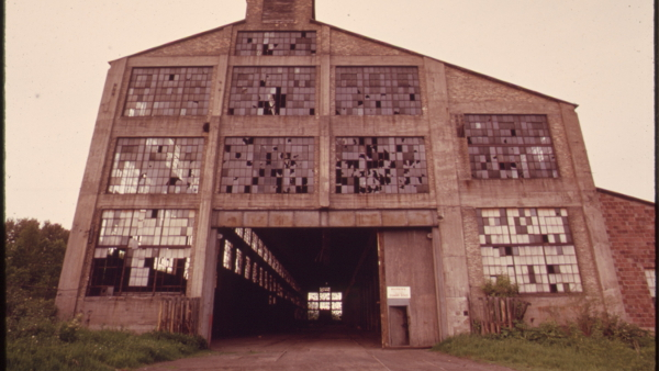abandoned factory near the St. Lous River