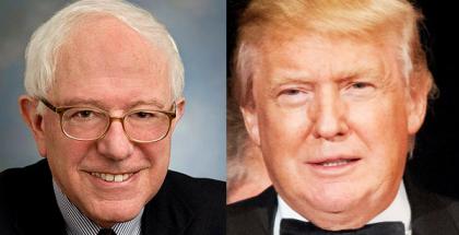 """Bernard """"Bernie"""" Sanders and Donald John Trump"""
