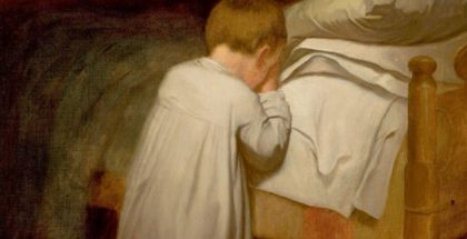 Child at Prayer (Painted by Eastman Johnson) (1873) {{PD-US}}