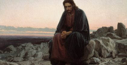 Christ in the Wilderness  (Painted by Ivan Nikolaevich Kramskoi) (1872) {{PD-US}}
