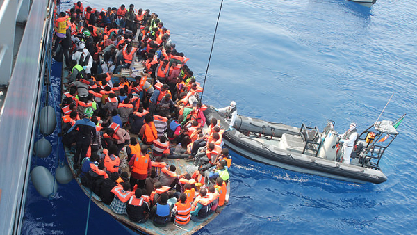 Migrants Being Rescued by IDF (Photo by Irish Defence Forces) (CC BY) (Resized/Cropped)