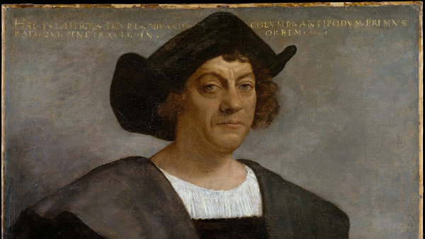 Portrait of a Man, Said to be Christopher Columbus (Painted by Sebastiano del Piombo) (1519)