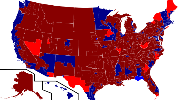 Results of the U.S. House of Representatives elections (Photo by Kurykh) (CC BY) (Resized/Cropped)