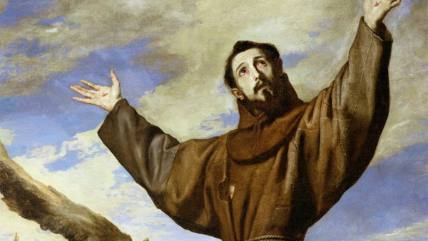 St. Francis of Assisi (Painted by José de Ribera) (1642) {US-PD}