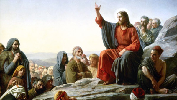The Sermon On the Mount (Painted by Carl Heinrich Bloch) (1887) {{PD-US}}