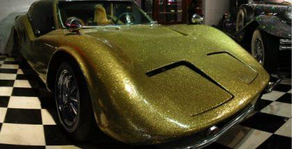 gold car (A 1972 Bradley GT for Liberrace) (2008) PUBLIC DOMAIN