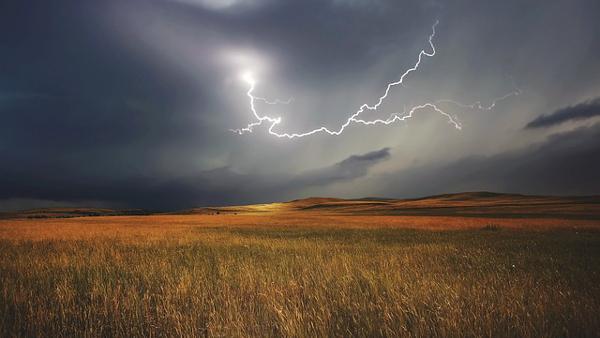 stormy field PUBLIC DOMAIN