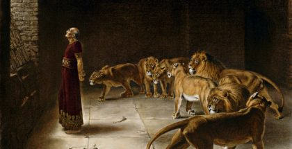 Daniel's Answer to the King  (Painted by Briton Rivière) (1892)