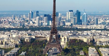 Eiffel Tower in Paris, France (Photo by Taxiarchos228) (CC BY) (Resized/Cropped)
